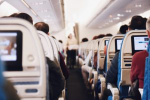 picture of inside of airline cabin by aviation accident attorneys