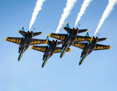 photo of Navy Blue Angels flying submitted by airplane accident lawyers